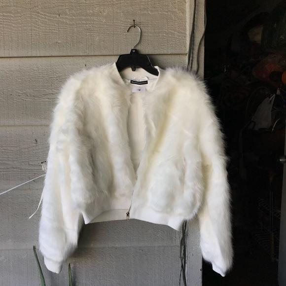 8a38ffb71 Brandy Melville Fur Fiona Jacket Bomber NWT